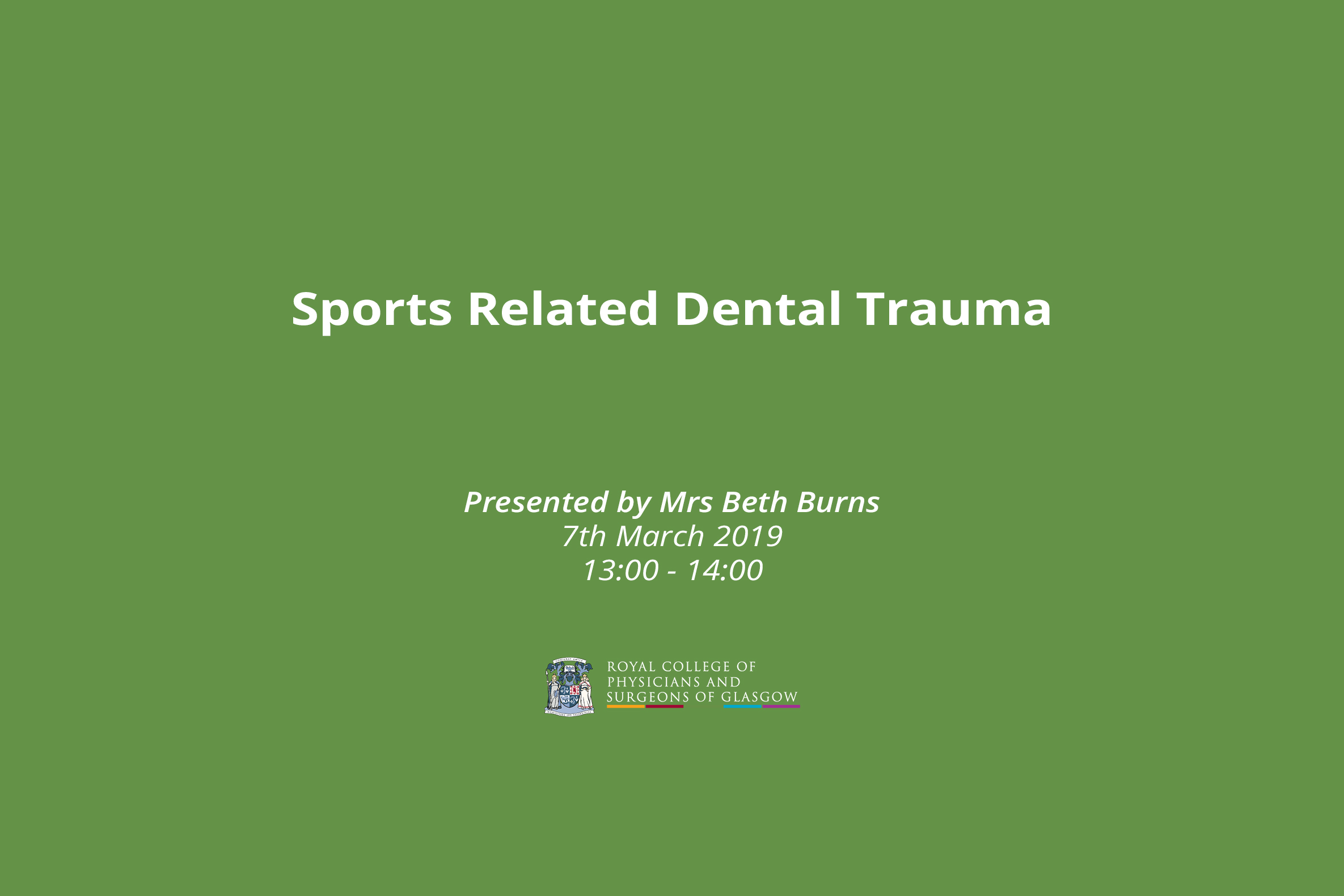 Sports Related Dental Trauma