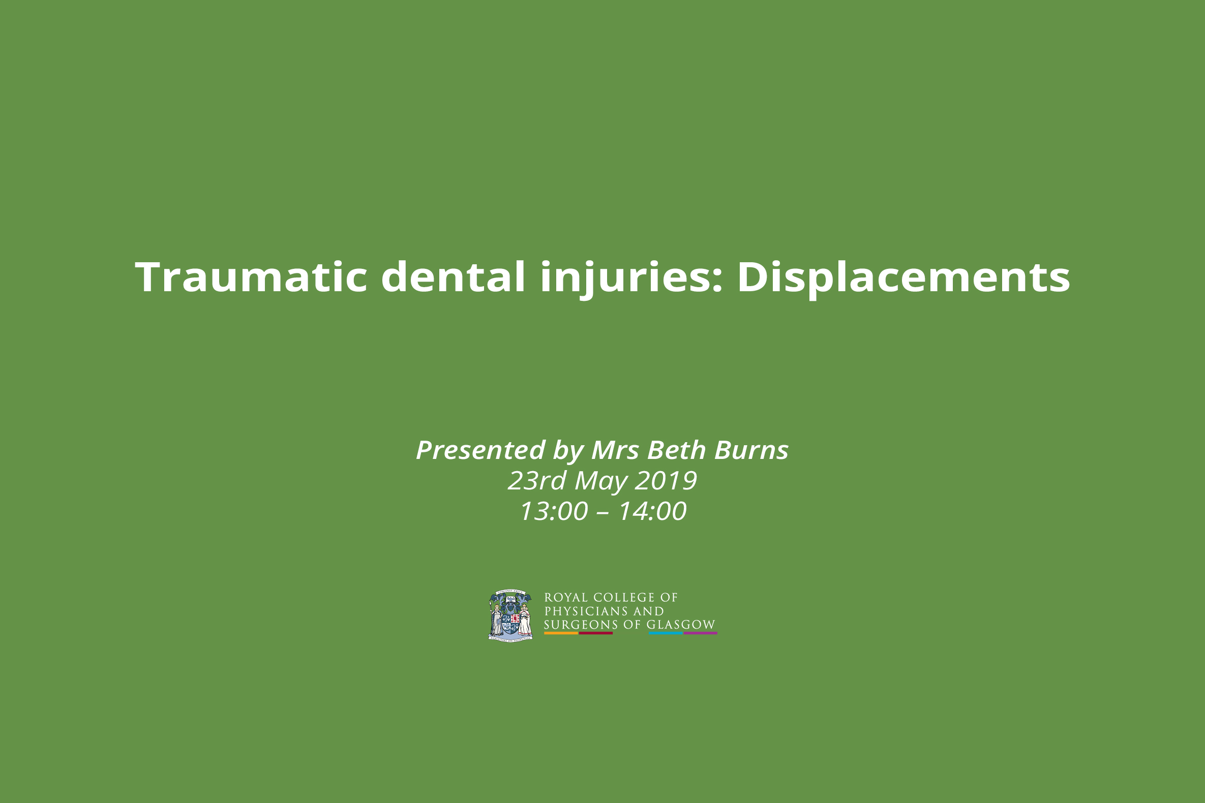 Traumatic dental injuries: Displacements