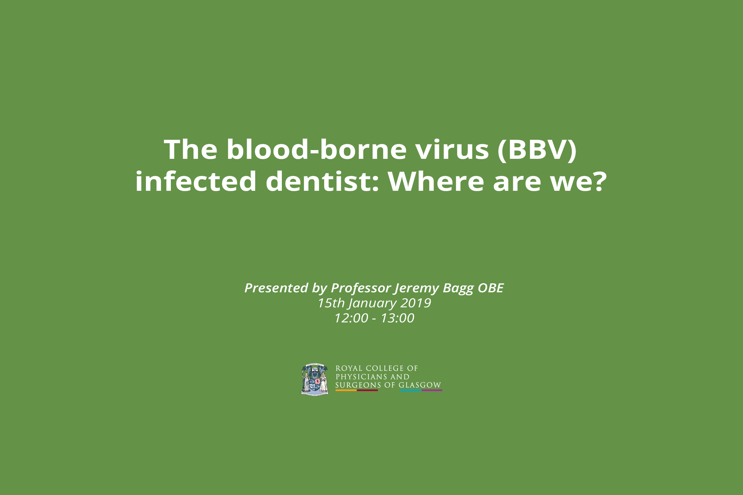 The blood-borne virus (BBV) infected dentist: Where are we?